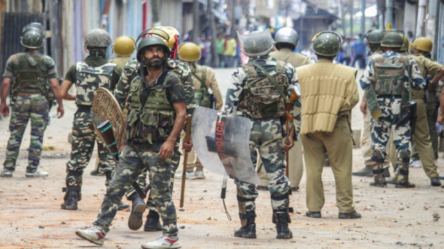 College students clash with security forces in Srinagar