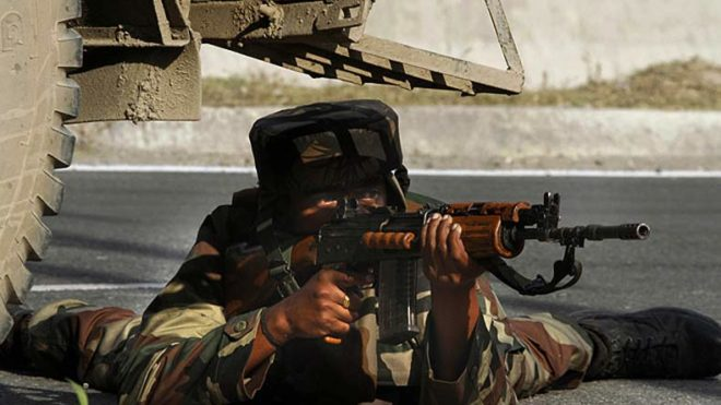 Three soldiers among four injured in Kashmir attack