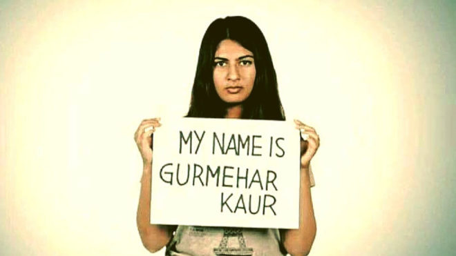 I am not your martyer's daughter, says Gurmehar Kaur in her powerful blog post
