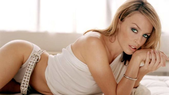 Singer Kylie Minogue ditches bra for photoshoot