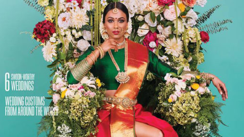 Canadian-Magazine-cover-of-Tamil-Bride-wearing-saree-with-slit-storms-debate