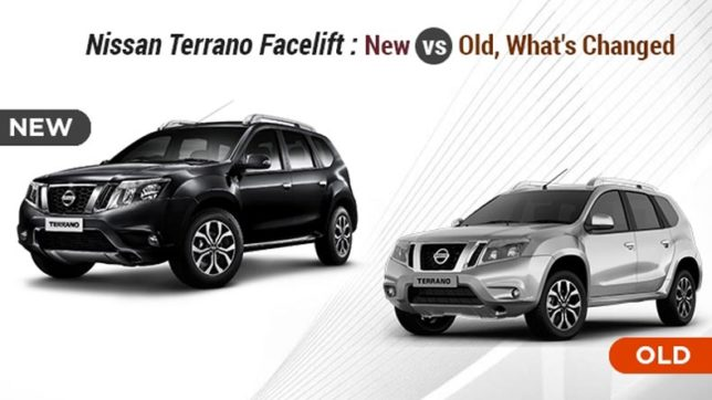 nissan terrano facelift new vs old what 39 s changed newsx. Black Bedroom Furniture Sets. Home Design Ideas