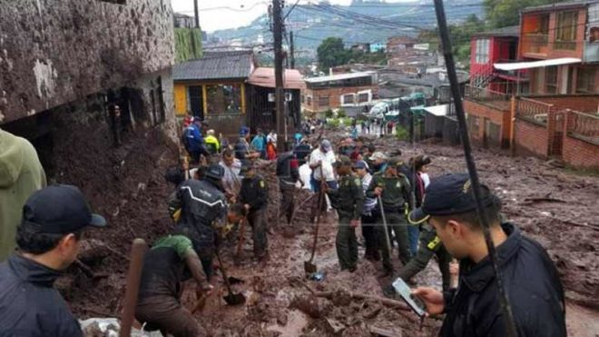 Colombia mudslides leave at least 14 dead, 9 missing
