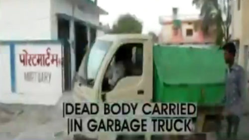 Outrage as MP's Tikamgarh municipality uses garbage truck to ferry dead bodies