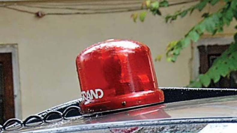 Himachal Governor discard red beacon from his official vehicle