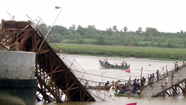 Over 50 people fall into the river after bridge collapses in southern Goa