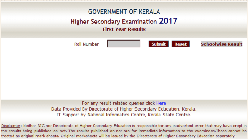 DHSE Kerala plus one +1 result 2017 Out Now at keralaresults