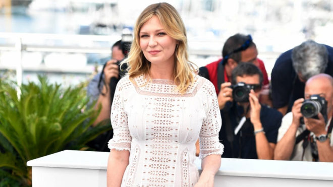 CANNES, May 24, 2017 (Xinhua) -- Actress Kirsten Dunst of the film
