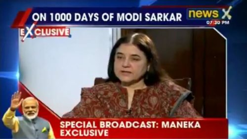 Our government is open to ideas: Maneka Gandhi to NewsX