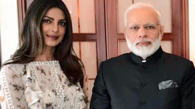 'Lovely coincidence' - Priyanka Chopra meets PM Modi in Berlin