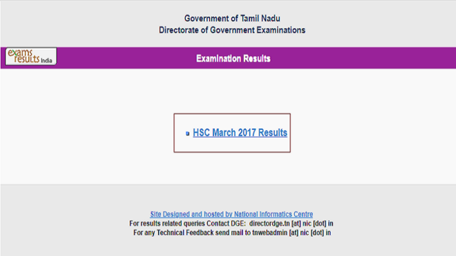 TNBSE , Tamil Nadu HSC 12th results 2017 declared at tnresults.nic.in