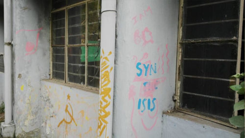 Pro-IS slogans found on DU campus' wall; DUSU files complaint