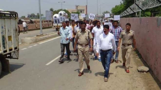 Flag march by police in violence-hit Saharanpur villages