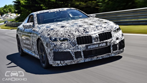 BMW M8 unveiled, albeit under camouflage