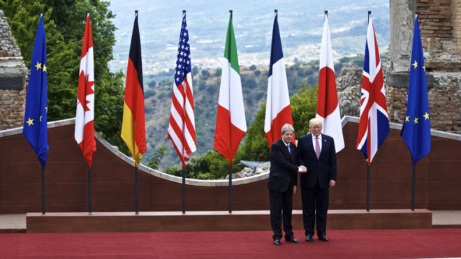US president Donald Trump satisfied with G7 defence of free trade agreement