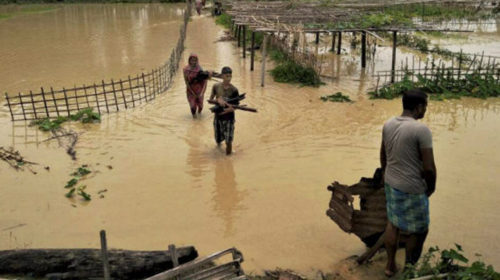 Assam flash flood: 1 dead, several vehicles stranded