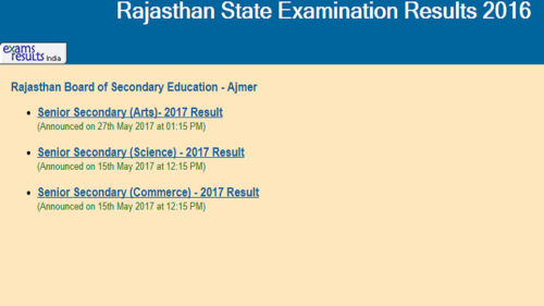 BSER, Rajasthan RBSE class 10 result 2017 declared @ rajresults.nic.in, indiaresults.com