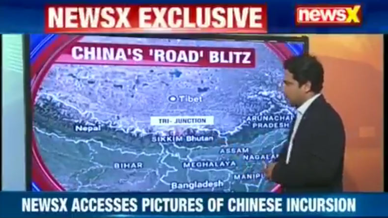 Chinese FM releases pictures showing Indian troops trespassing into Sikkim Section