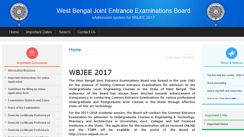 West Bengal WBJEE 2017 Joint Entrance Exam Result Out Today | Check Now