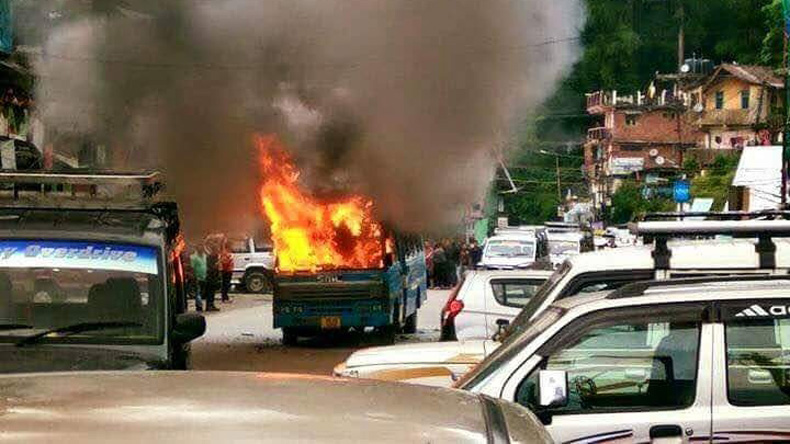 GJM Strike: BDO Office in Darjeeling Torched
