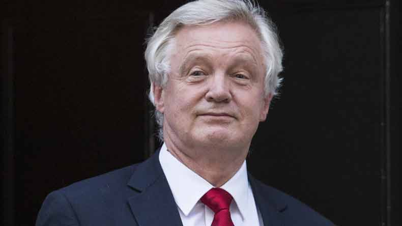 Hard work begins Monday, says Brexit minister David Davis on eve of talks with EU