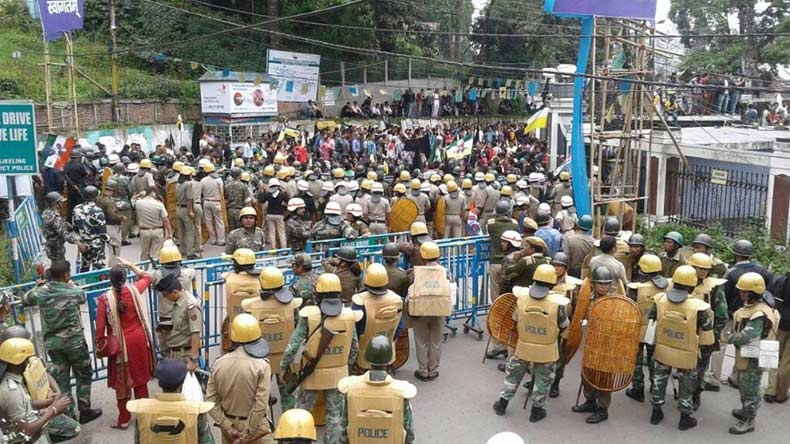Government offices vandalised on day 1 of GJM bandh in Darjeeling