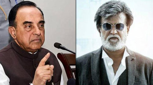 Illiterate' Rajinikanth unfit for politics, says Subramanian Swamy