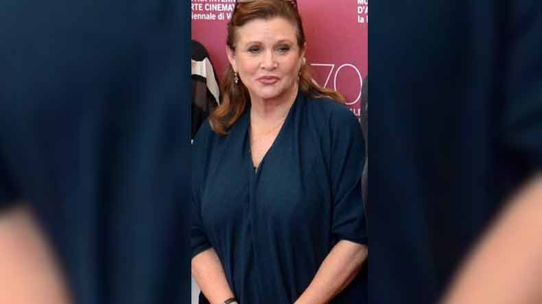 Star Wars' actress Carrie Fisher's autopsy revels she had cocaine heroin