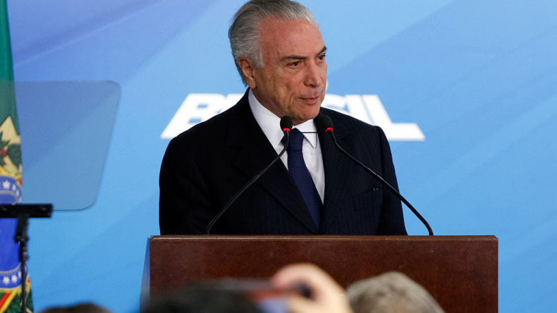 Brazil President Michel Temer charged over alleged multi-million bribery case