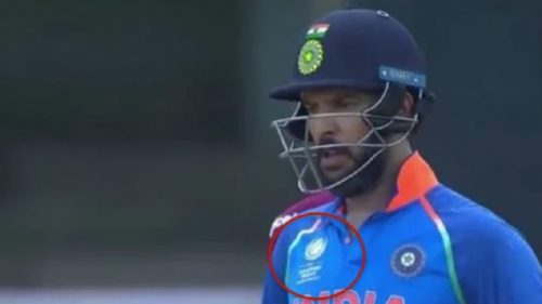 Oops! Yuvraj Singh dons Champions Trophy jersey in second ODI against West Indies