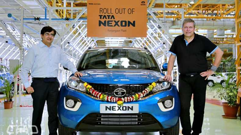 Tata Nexon rolls out of Tata-Fiat's Ranjangaon facility