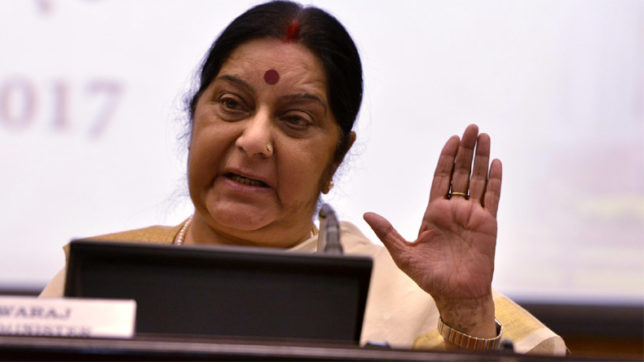 Not denying medical visas to Pakistanis, waiting for one to Jadhav's mom Sushma Swaraj