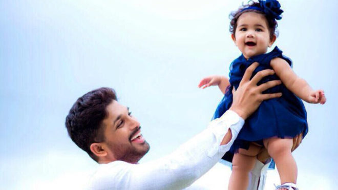 Allu Arjun's picture with daughter goes viral