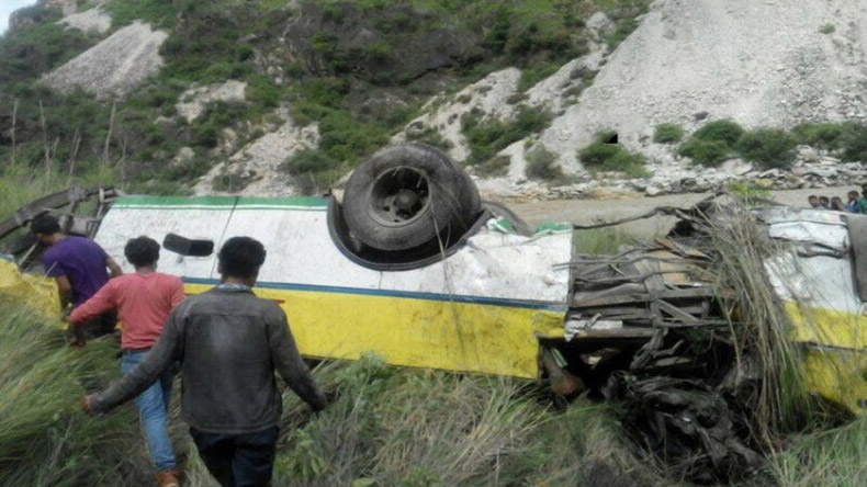 Bus falls into gorge in north Indian hill state, killing 25