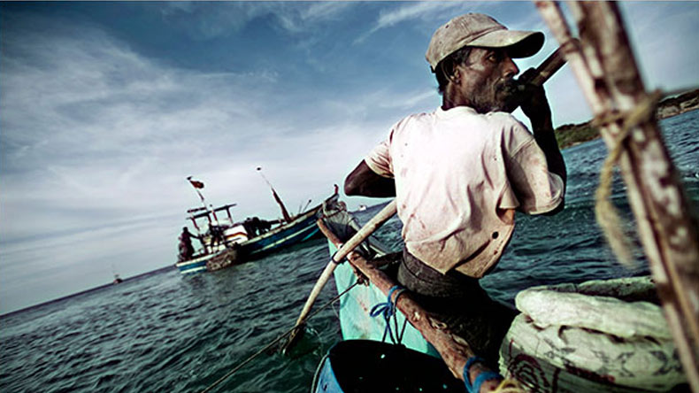 Sri Lankan Navy detains three Indian fishermen