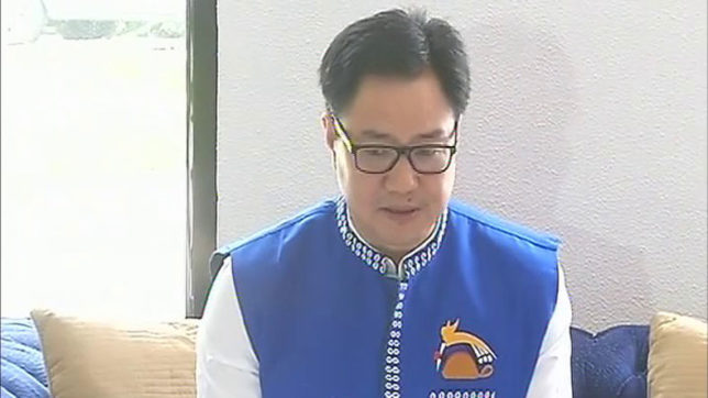 MoS Kiren Rijiju visits north-east to review flood situation