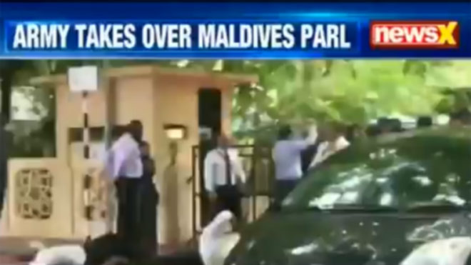 Maldives opposition says govt locks down Parliament; military takes over