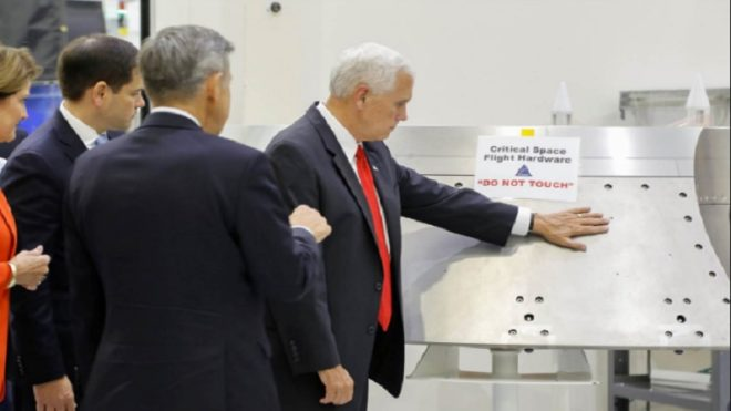 Twitterati slam Mike Pence for ignoring NASA sign