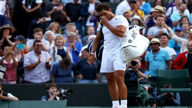 Wimbledon 2017: Rafael Nadal knocked out by Gilles Muller in five-set epic