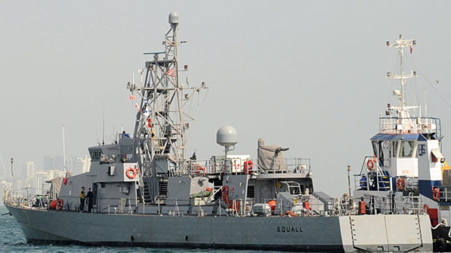 US Navy vessel fires shots at Iranian boat