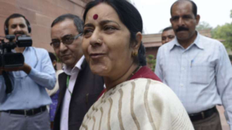 External Affairs Minister Sushma Swaraj. (File Photo: IANS)