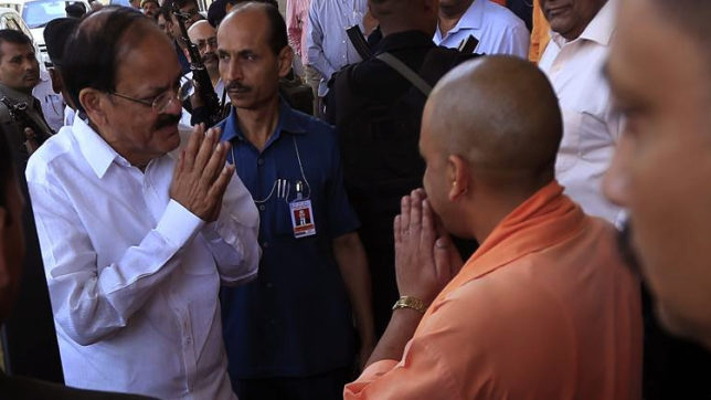 Yogi Adityanath greets Naidu on being named NDA nominee for VP's post