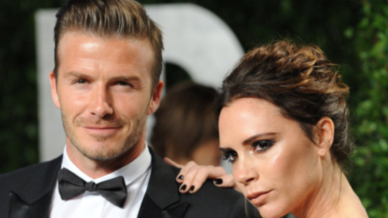 David, Victoria Beckham visit 'Modern Family' set