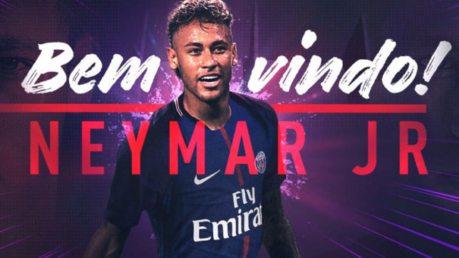Neymar signs for PSG for a world record fee of 222m euros