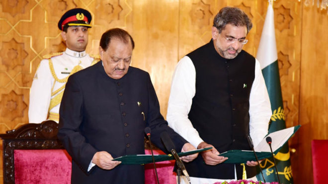 Pakistan: PM Shahid Khaqan Abbasi's new cabinet of ministers sworn in