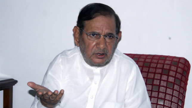 JD(U) attacks Sharad Yadav for not supporting alliance with BJP