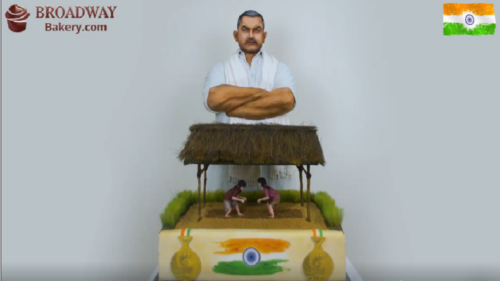 Dubai celebrates Indian Independence Day with a huge 'Dangal' themed cake