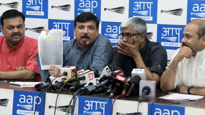 BJP leaders delaying Delhi flyover work for commission: AAP