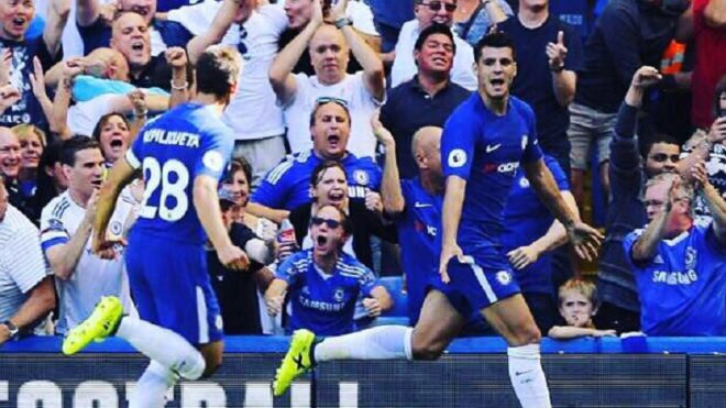 Premier League: Fabregas, Morata lead Chelsea to beat Everton 2-0