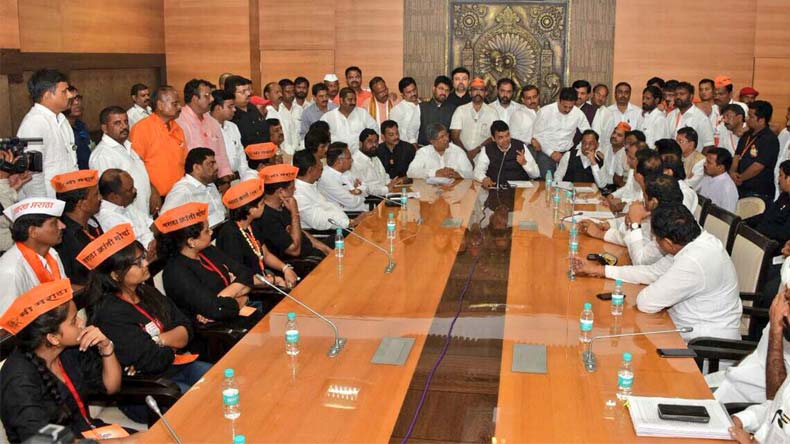 Maratha Kranti Morcha: CM Fadnavis meets delegation, accepts reservation demands